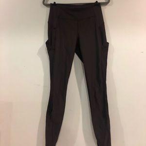 Black 7/8 Lululemon Leggings With Pockets